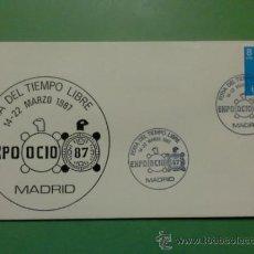 Sellos: SOBRE CON MATASELLOS DE MADRID 1987. EXPO OCIO 87. FERIA DEL TIEMPO LIBRE. Lote 34464168