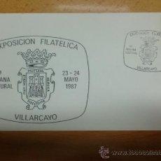 Sellos: SOBRE CON MATASELLOS DE VILLARCAYO 1987. EXPOSICION FILATELICA. 4ª SEMANA CULTURAL. Lote 34488464