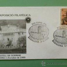 Sellos: SOBRE CON MATASELLOS DE BADALONA 1999. CASTELL DE GODMAR. XIII EXPO. FIL.. Lote 34603664