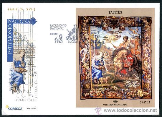 SOBRE PRIMER DIA - PATRIMONIO NACIONAL - TAPIZ S. XVII, ED. 4579 (Sellos - Historia Postal - Sello Español - Sobres Primer Día y Matasellos Especiales)