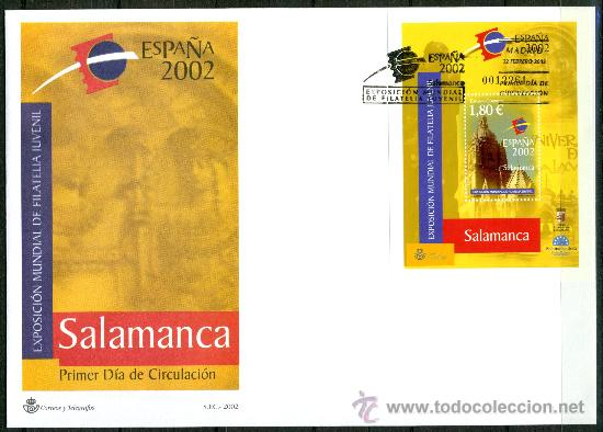 SOBRE PRIMER DIA - EXPOSICIÓN MUNDIAL DE FILATELIA JUVENIL, ED. 3878 (Sellos - Historia Postal - Sello Español - Sobres Primer Día y Matasellos Especiales)