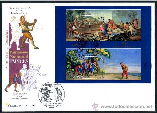 SOBRE PRIMER DIA - PATRIMONIO NACIONAL TAPICES, ED. 4495 (Sellos - Historia Postal - Sello Español - Sobres Primer Día y Matasellos Especiales)