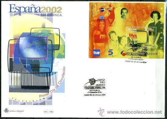 Sellos: Sobre Primer Dia - ESPAÑA 2002 SALAMANCA, Ed. 3944/50 - Foto 2 - 34745653
