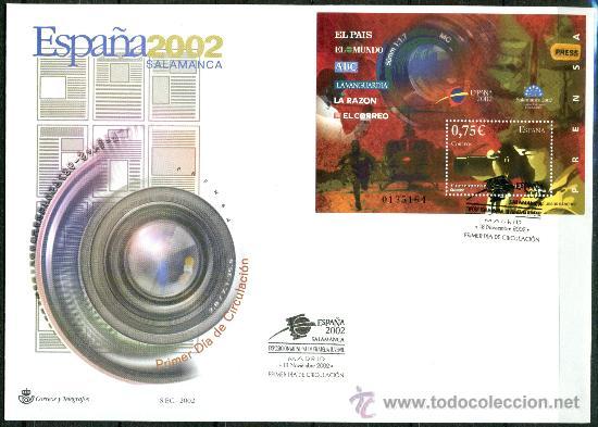 Sellos: Sobre Primer Dia - ESPAÑA 2002 SALAMANCA, Ed. 3944/50 - Foto 3 - 34745653
