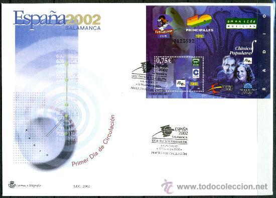 Sellos: Sobre Primer Dia - ESPAÑA 2002 SALAMANCA, Ed. 3944/50 - Foto 4 - 34745653