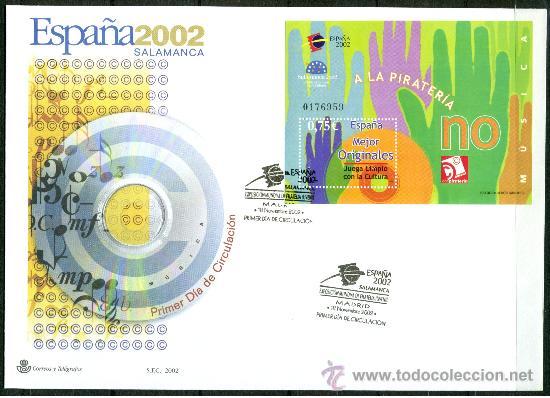Sellos: Sobre Primer Dia - ESPAÑA 2002 SALAMANCA, Ed. 3944/50 - Foto 6 - 34745653