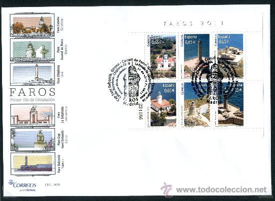 SOBRE PRIMER DIA - FAROS, ED. 4646 (Sellos - Historia Postal - Sello Español - Sobres Primer Día y Matasellos Especiales)