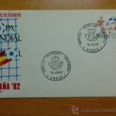 Sellos: SOBRE CON MATASELLOS DE CADIZ 1982. SERVICIO FILATELICO PROVINCIAL. PRIMER DIA DE CIRCULACION.. Lote 34816538