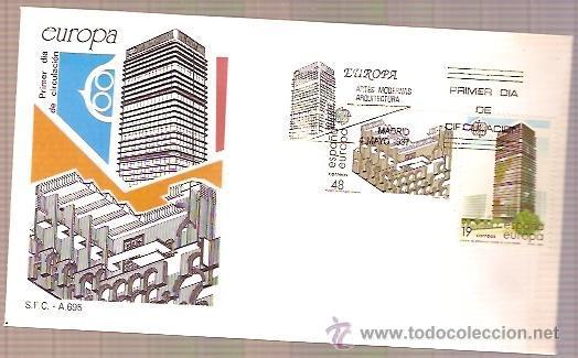 SPD SFC A695 EDIFIL 2904 Y 2905 TEMA EUROPA 1987 ARTES MODERNAS ARQUITECTURA SOBRE PRIMER DIA (Sellos - Historia Postal - Sello Español - Sobres Primer Día y Matasellos Especiales)