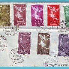 Sellos: SAHARA 1961, SOBRE PRIMER DIA MATASELLOS EL AAIUN. Lote 36285790