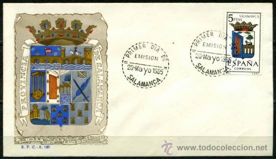 SOBRE PRIMER DIA - SALAMANCA (Sellos - Historia Postal - Sello Español - Sobres Primer Día y Matasellos Especiales)
