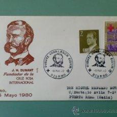 Sellos: SOBRE CON MATASELLOS BILBAO. 1980. GURUTZ GORRIAREN EGUANA. J. H. DUNANT. FUNDADOR DE LA CRUZ ROJA.. Lote 36939101