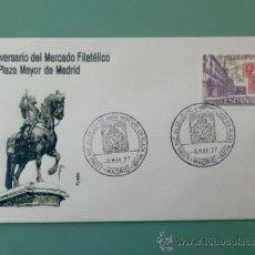 Sellos: SOBRE CON MATASELLOS MADRID. 1977. X FERIA NACIONAL DEL SELLO. 50 ANIV DEL MERCADO FILAT PLAZA MAYOR. Lote 36939152