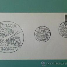 Sellos: SOBRE CON MATASELLOS BARCELONA. 1989. XL EXPOSICION FILATELICA GRACIA.. Lote 36951435