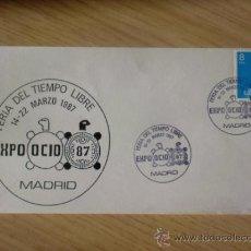 Sellos: SOBRE CON MATASELLOS MADRID. 1987. EXPO OCIO 87. FERIA DEL TIEMPO LIBRE.. Lote 36988673
