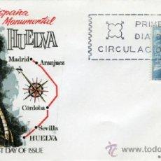 Sellos: ESPAÑA MONUMENTAL. HUELVA. MONUMENTO A COLÓN.. Lote 37029741
