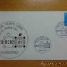 Sellos: SOBRE CON MATASELLOS. MADRID. 1989. EXPO OCIO- 87. FERIA DEL TIEMPO LIBRE... Lote 37168348