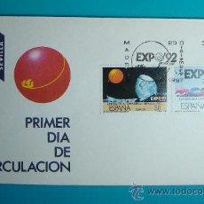 Sellos: SOBRE PRIMER DIA CIRCULACION, 1987, EXPOSICION UNIVERSAL DE SEVILLA, EXPO 92, MATASELLOS MADRID. Lote 37239953