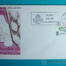 Sellos: SOBRE PRIMER DIA CIRCULACION, 1981, DIA MUNDIAL DE LA ALIMENTACION, MATASELLOS MADRID. Lote 37240266