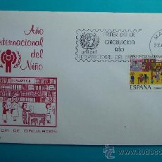 Sellos: SOBRE PRIMER DIA CIRCULACION, 1979, AÑO INTERNACIONAL DEL NIÑO, MATASELLOS MADRID. Lote 37241154
