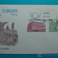 Sellos: SOBRE PRIMER DIA CIRCULACION, 1978, EUROPA CEPT, MATASELLOS MADRID. Lote 37241457