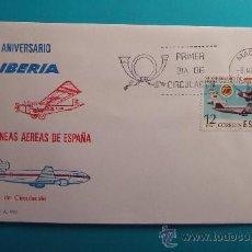 Sellos: SOBRE PRIMER DIA CIRCULACION 1977 50 ANIVERSARIO DE IBERIA, MATASELLOS MADRID. Lote 37254075