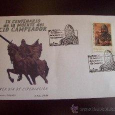 Sellos: SOBRE IX CENTENARIO DEL CID CAMPEADOR. Lote 37441962