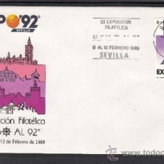 Sellos: 1989 RODILLO 3 SEVILLA, EXPO 92, III EXPOSICION FILATELICA RUMBO AL 92, 9-12/8/1989. Lote 37516959