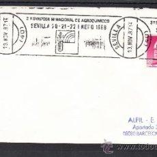 Sellos: 1987 RODILLO 214 SEVILLA, 3º SYMPOSIUM NACIONAL DE AGROQUIMICOS 20-22/1/1988. Lote 37508971