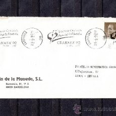 Sellos: 1992 RODILLO 28 BARCELONA CIRCULADO, VISITE LA EXPOSICION MUNDIAL DE FILATELIA GRANADA 92. Lote 37517375