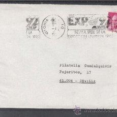 Sellos: 1987 RODILLO 37 VITORIA CIRCULADO, EXPO 92, SEVILLA SEDE DE LA EXPOSICION UNIVERSAL 1992. Lote 142519286