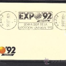 Sellos: 1986 RODILLO 39 CADIZ, EXPO 92, SEVILLA SEDE DE LA EXPOSICION UNIVERSAL 1992. Lote 57578812