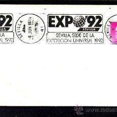 Sellos: 1986 RODILLO 37 SEVILLA, EXPO 92, SEVILLA SEDE DE LA EXPOSICION UNIVERSAL 1992. Lote 57578795