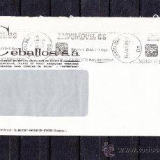 Sellos: 1986 RODILLO 35 BARCELONA CIRCULADO, AUTOMOVIL, VISITEN EL CERTAMEN INTERNACIONAL EXPOMOVIL 86. Lote 37630949