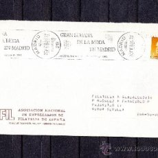 Sellos: 1986 RODILLO 9 MADRID CIRCULADO, GRAN SEMANA DE LA MODA EN MADRID . Lote 37631203
