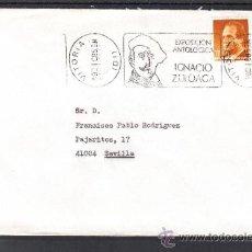 Sellos: 1985 RODILLO 159 VITORIA CIRCULADO, EXPOSICION ANTOLOGICA IGNACIO ZULOAGA, . Lote 37631427