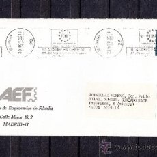 Sellos: 1985 RODILLO 149 MADRID CIRCULADO, FEMP, III ASAMBLEA GENERAL . Lote 37640008