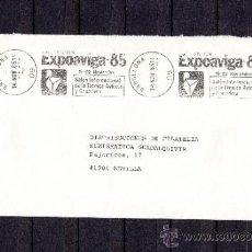Sellos: 1985 RODILLO 144 BARCELONA CIRCULADO, VISITEN EXPOAVIGA 85, SALON INTERNACIONAL TECNICA AVICOLA Y GA. Lote 37640087