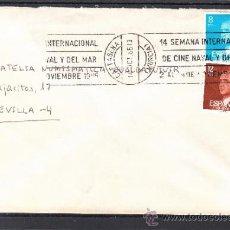 Sellos: 1985 RODILLO 136 CARTAGENA (MURCIA) CIRCULADO, 14 SEMANA INTERNACIONAL DE CINE NAVAL Y DEL MAR, . Lote 37640127