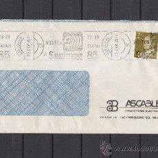 Sellos: 1985 RODILLO 113 BARCELONA CIRCULADO, VISITEN SONIMAG 85 . Lote 37640423