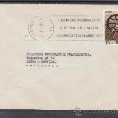 Sellos: 1985 RODILLO 59 LA CORUÑA CIRCULADO, I JORNADAS NACIONALES DE TURISMO EN GALICIA, . Lote 37640563