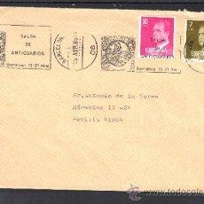 Sellos: 1985 RODILLO 40 BARCELONA CIRCULADO, SALON DE ANTICUARIOS . Lote 37640672