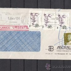 Sellos: 1984 RODILLO 154 BARCELONA CIRCULADO, VISITEN EL SALON LIBER 84, . Lote 37648174
