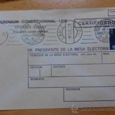 Sellos: SOBRE CON MATASELLOS DE CADIZ. 1978. REFERENDUM NACIONAL DIA DE LA CONSTITUCION.. Lote 37614687