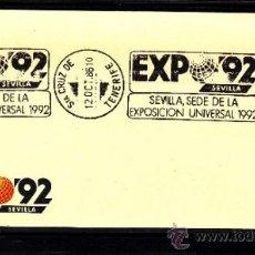 Sellos: 1986 RODILLO 51 SANTA CRUZ TENERIFE, EXPO 92, SEVILLA SEDE DE LA EXPOSICION UNIVERSAL 1992. Lote 71178395