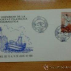 Timbres: SOBRE CON MATASELLOS DE BLANES. 1989. XX EXPOSICIO FILATELICA.. Lote 37675328