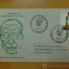 Timbres: SOBRE CON MATASELLOS DE OVIEDO. 1976. II SIMPOSIO SOBRE EL PADRE FEIJOO Y SU SIGLO.. Lote 37675346