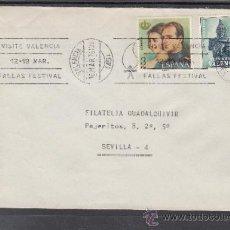 Sellos: 1976 RODILLO 9 VALENCIA CIRCULADO, VISITE VALENCIA, FALLAS FESTIVAL, . Lote 37790041