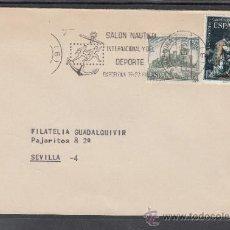 Sellos: 1975 RODILLO 2 BARCELONA CIRCULADO, SALON NAUTICO INTERNACIONAL Y DEL DEPORTE, . Lote 37805580