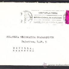 Sellos: 1974 RODILLO 36 BARCELONA CIRCULADO, VISITAD LA FERIA INTERNACIONAL DE MUESTRAS BARCELONA. Lote 37812515